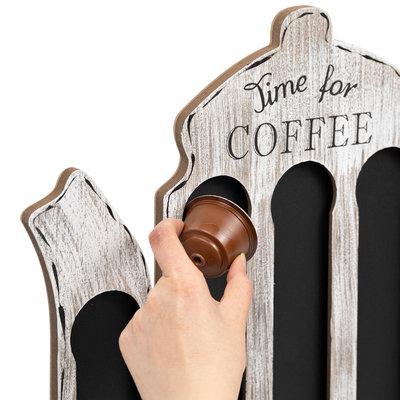 Decopatent Decopatent® - Capsulehouder Dolce Gusto - Koffiepot Design - Capsule houder voor dolce gusto koffie cups - Cuphouder - Wit / Grijs