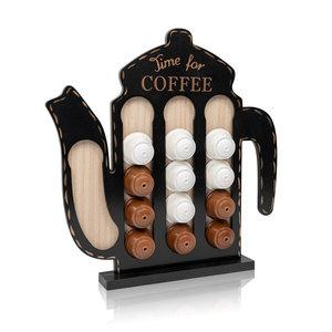 Decopatent Decopatent® - Capsulehouder Dolce Gusto - Koffiepot Design - Capsule houder voor dolce gusto koffie cups - Cuphouder - Zwart