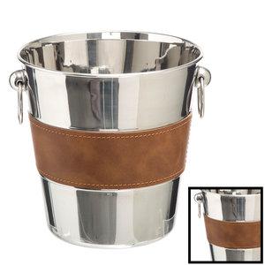 Decopatent Decopatent® RVS ijsemmer - Champagne Fles ijs emmer met handvat - Champagnekoeler - Drankemmer - Wijnkoeler - 22.5x 21 x 21 Cm