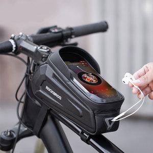 Decopatent Decopatent® PRO Stuurtas - Telefoonhouder fiets Waterdicht - Fietstas universeel tot 6.8 inch Gsm - Mtb - Ebike - iPhone - Samsung