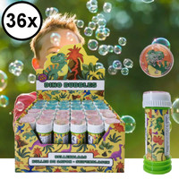 Decopatent Decopatent® Uitdeelcadeaus 36 STUKS Dinosaurus Bellenblaas - 50ML - Traktatie Uitdeelcadeautjes voor kinderen - Klein Speelgoed