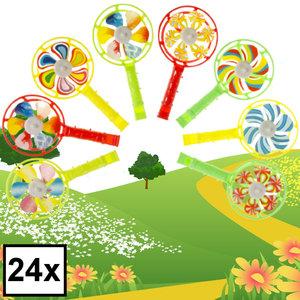 Decopatent Decopatent® Uitdeelcadeaus 24 STUKS Windmolens - Traktatie Uitdeelcadeautjes voor kinderen - Klein Speelgoed Traktaties