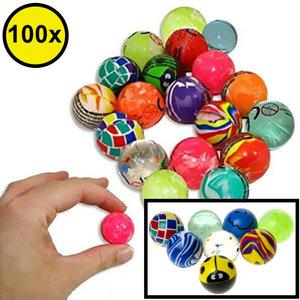 Decopatent Decopatent® Uitdeelcadeaus 100 STUKS MIX Stuiterballen Ø2.7 Cm - Traktatie Uitdeelcadeautjes voor kinderen - Klein Speelgoed