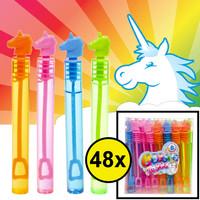 Decopatent Decopatent® Uitdeelcadeaus 48 STUKS Unicorn / Eenhoorn Bellenblaas Staafjes - Traktatie Uitdeelcadeautjes voor kinderen - Speelgoed