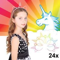 Decopatent Decopatent® Uitdeelcadeaus 24 STUKS Unicorn / Eenhoorn Tiara Diadeem - Traktatie Uitdeelcadeautjes voor kinderen - Traktaties