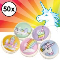 Decopatent Decopatent® Uitdeelcadeaus 50 STUKS Unicorn / Eenhoorn Stuiterballen Ø3.2 Cm - Traktatie Uitdeelcadeautjes voor kinderen - Speelgoed