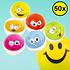 Decopatent Decopatent® Uitdeelcadeaus 50 STUKS Vrolijke Smiley Stuiterballen Ø3.2 Cm - Traktatie Uitdeelcadeautjes voor kinderen - Speelgoed
