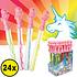 Decopatent Decopatent® Uitdeelcadeaus 24 STUKS Unicorn Bellenblaas Staaf 25CM - Traktatie Uitdeelcadeautjes voor kinderen - Klein Speelgoed