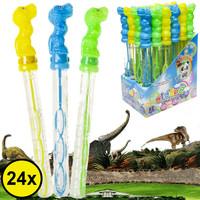 Decopatent Decopatent® Uitdeelcadeaus 24 STUKS Dinosaurus Bellenblaas Staaf 25CM - Traktatie Uitdeelcadeautjes voor kinderen - Klein Speelgoed