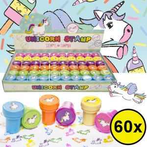 Decopatent Decopatent® Uitdeelcadeaus 60 STUKS Unicorn / Eenhoorn Stempels - Traktatie Uitdeelcadeautjes voor kinderen - Speelgoed Traktaties