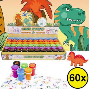 Decopatent Decopatent® Uitdeelcadeaus 60 STUKS Dinosaurus Stempels - Traktatie Uitdeelcadeautjes voor kinderen - Speelgoed Traktaties