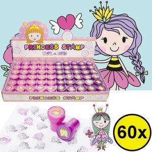 Decopatent Decopatent® Uitdeelcadeaus 60 STUKS Prinsessen Stempels - Traktatie Uitdeelcadeautjes voor kinderen - Speelgoed Traktaties