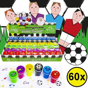 Decopatent Decopatent® Uitdeelcadeaus 60 STUKS Voetballers Stempels - Traktatie Uitdeelcadeautjes voor kinderen - Speelgoed Traktaties