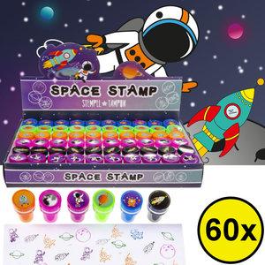 Decopatent Decopatent® Uitdeelcadeaus 60 STUKS Space / Ruimtevaart Stempels - Traktatie Uitdeelcadeautjes voor kinderen - Speelgoed Traktaties