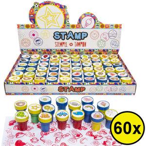 Decopatent Decopatent® Uitdeelcadeaus 60 STUKS MIX Traktatie Stempels - Traktatie Uitdeelcadeautjes voor kinderen - Speelgoed Traktaties