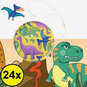 Decopatent Decopatent® Uitdeelcadeaus 24 STUKS Metalen Dinosaurus Yoyo's - Jojo's Metaal - Traktatie Uitdeelcadeautjes voor kinderen - Speelgoed