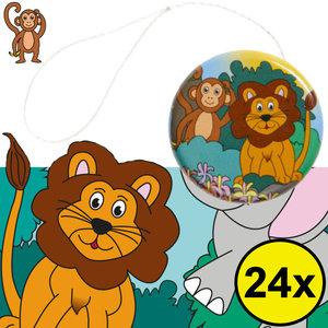 Decopatent Decopatent® Uitdeelcadeaus 24 STUKS Metalen Jungle Dieren Yoyo's - Jojo's Metaal - Traktatie Uitdeelcadeautjes voor kinderen - Speelgoed