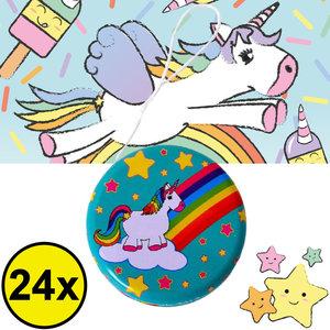 Decopatent Decopatent® Uitdeelcadeaus 24 STUKS Metalen Unicorn Yoyo's - Jojo's Metaal - Traktatie Uitdeelcadeautjes voor kinderen - Speelgoed