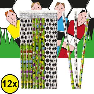Decopatent Decopatent® Uitdeelcadeaus 12 STUKS Voetballers Potloden - Traktatie Uitdeelcadeautjes voor kinderen - Klein Speelgoed Traktaties