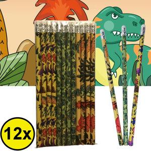 Decopatent Decopatent® Uitdeelcadeaus 12 STUKS Dinosaurus Potloden - Traktatie Uitdeelcadeautjes voor kinderen - Klein Speelgoed Traktaties