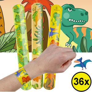 Decopatent Decopatent® Uitdeelcadeaus 36 STUKS Dinosaurus Klaparmbandjes - Traktatie Uitdeelcadeautjes voor kinderen - Speelgoed Traktaties