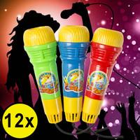 Decopatent Decopatent® Uitdeelcadeaus 12 STUKS Echo Microfoons - Speelgoed Traktatie Uitdeelcadeautjes voor kinderen