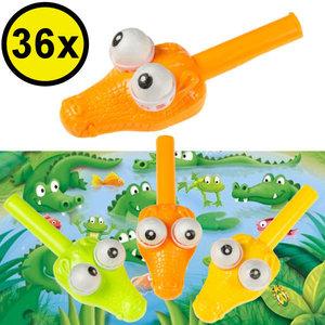 Decopatent Decopatent® Uitdeelcadeaus 36 STUKS Krocodil Blaaspijpje Bal Spel - Speelgoed Traktatie Uitdeelcadeautjes voor kinderen