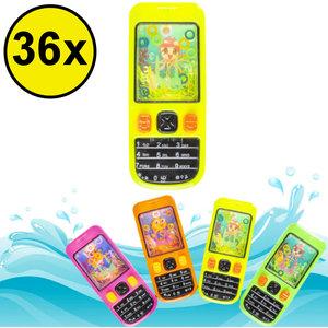 Decopatent Decopatent® Uitdeelcadeaus 36 STUKS Waterspel GSM / Telefoons - Speelgoed Traktatie Uitdeelcadeautjes voor kinderen