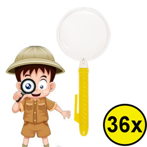 Decopatent Decopatent® Uitdeelcadeaus 36 STUKS Vergrootglas - Vergrootglazen Speelgoed Traktatie Uitdeelcadeautjes voor kinderen