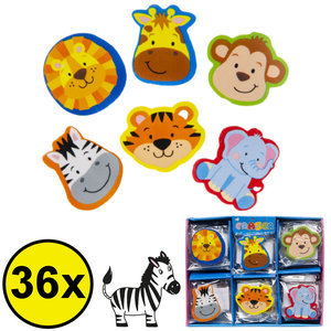 Decopatent Decopatent® Uitdeelcadeaus 36 STUKS Jungle Dieren Gummen - Gom - Speelgoed Traktatie Uitdeelcadeautjes voor kinderen