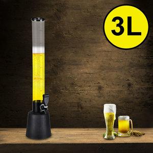 Decopatent Decopatent® Grote staande XL Biertap met Tap kraan - Drank dispenser - Bar butler - Biertoren - Limonadetap - Alcohol Tafeltap - 3 Liter