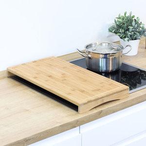 Decopatent Decopatent® Snijplank / Kookplaat Afdekplaat - Bamboe hout - Houten Snij Plank Met Saprand -  Afm. 54 x 28  4.5 CM