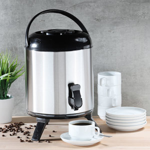 Decopatent Decopatent® Thermo Airpot - 8 Liter - Grote RVS Thermoskan - Isoleerkan  - Koffiekan met Handvat - Airpot Groot - Glühweinketel - Warmhoudketel