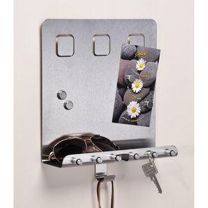 Decopatent Decopatent® Magnetisch Sleutelrek - RVS - Sleutelkastje voor binnen - Wand Sleutelrek voor 6 Sleutels - Muur Sleutelrekje - Magneetbord Inclusief 4 Magneten