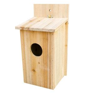 Decopatent Decopatent® Vogelhuisje - Nestkastje voor Vogels - Naturel hout - Hangend Vogelhuis - Nestkastje voor tuin vogels - 14 x 15 x 30 Cm