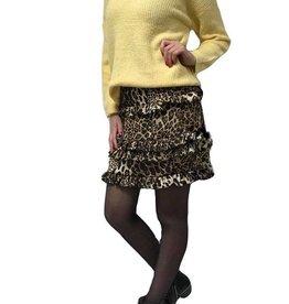Rebelz collection Ruffle leopard rokje bruin