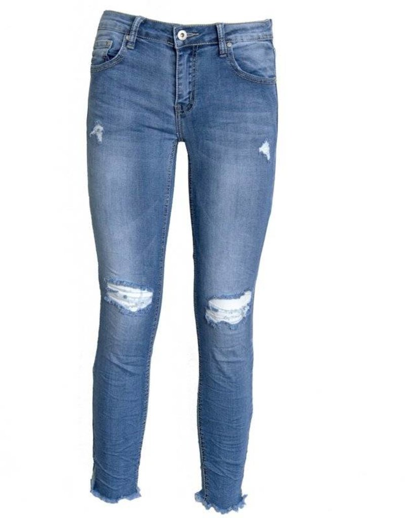 Place du Jour Ripped skinny jeans