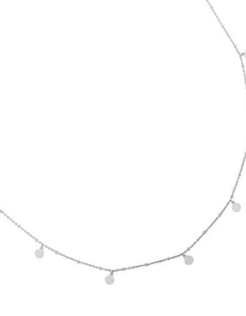 Yehwang Coins en little dots ketting zilver