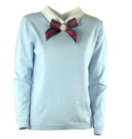 Strik sweater lichtblauw
