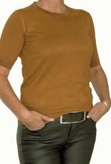Ambika Gebreid shirt camel