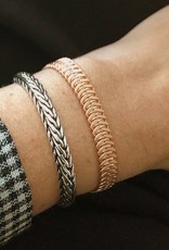 Biba Zilver metalen schakelarmband