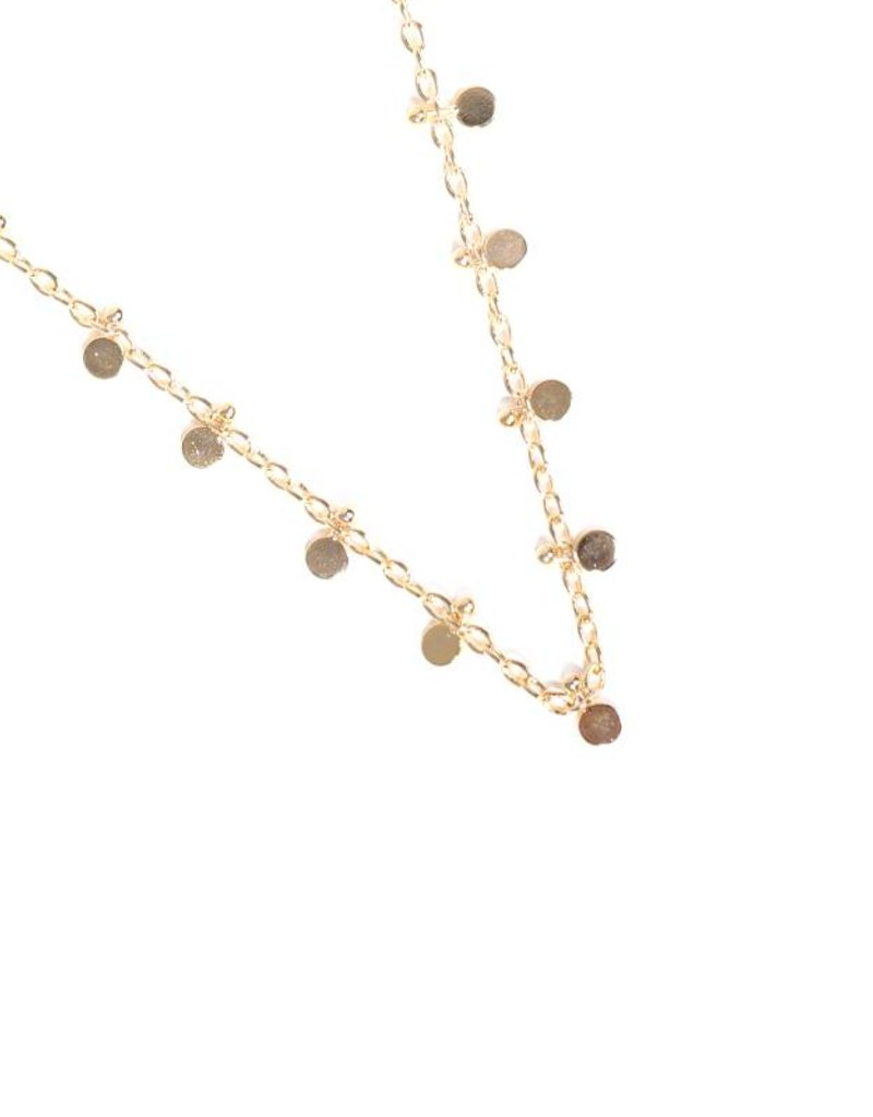 Yehwang Ketting full of circles gold