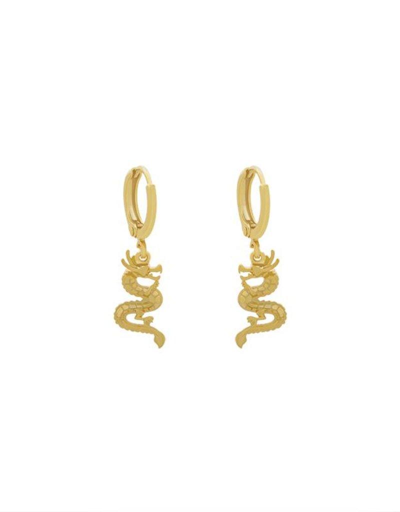 Yehwang Oorbellen Chinese dragon goud