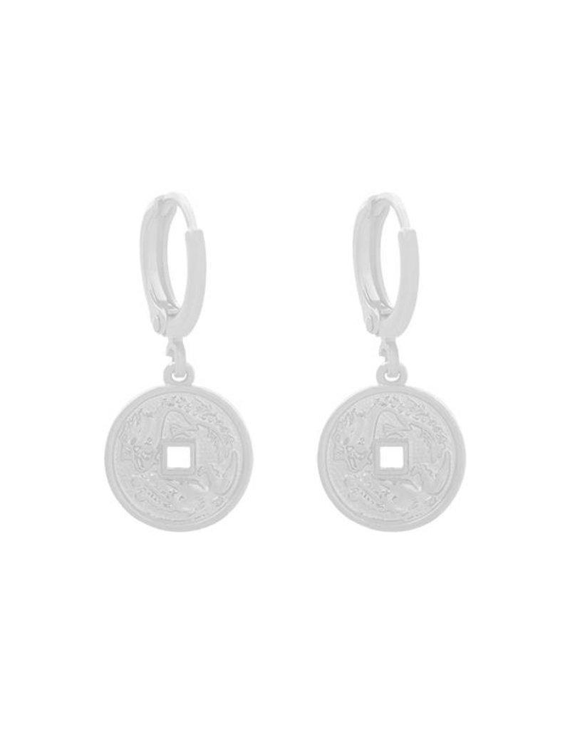 Yehwang Oorbellen mythological coin zilver