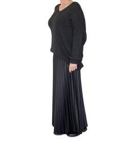 Musthavesboetiek Lange plisse rok zwart