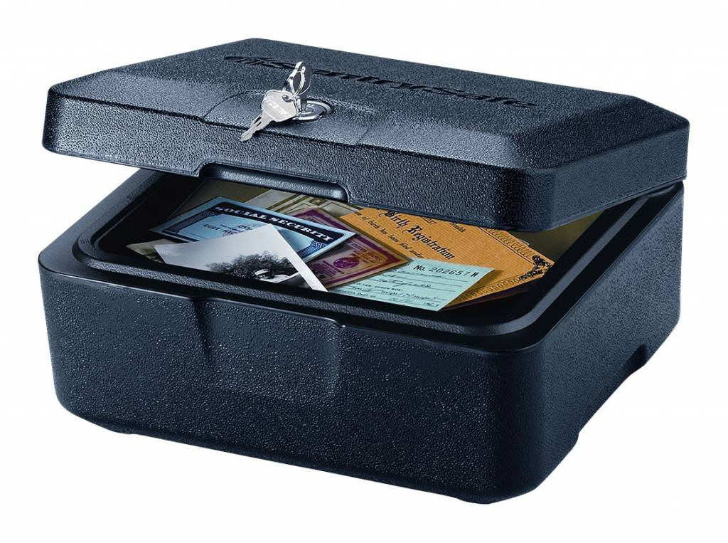 0500 vuurbestendige documentkoffer Brandwerende Box (kleine)**VERPAKKINGSCHADE** -