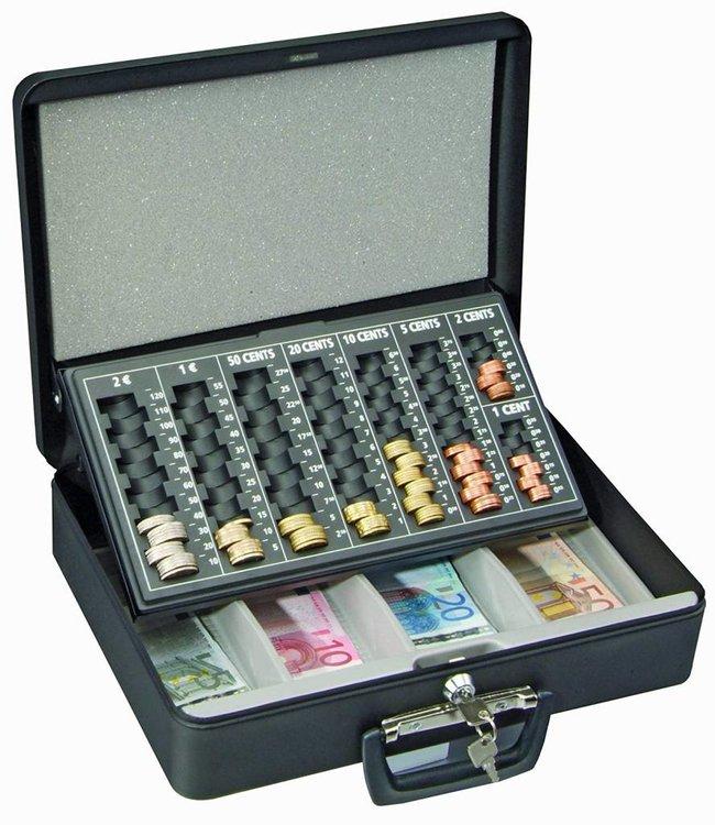 Rottner Tresor Geldkoffer London met handvat en Euro inzet - Zwart