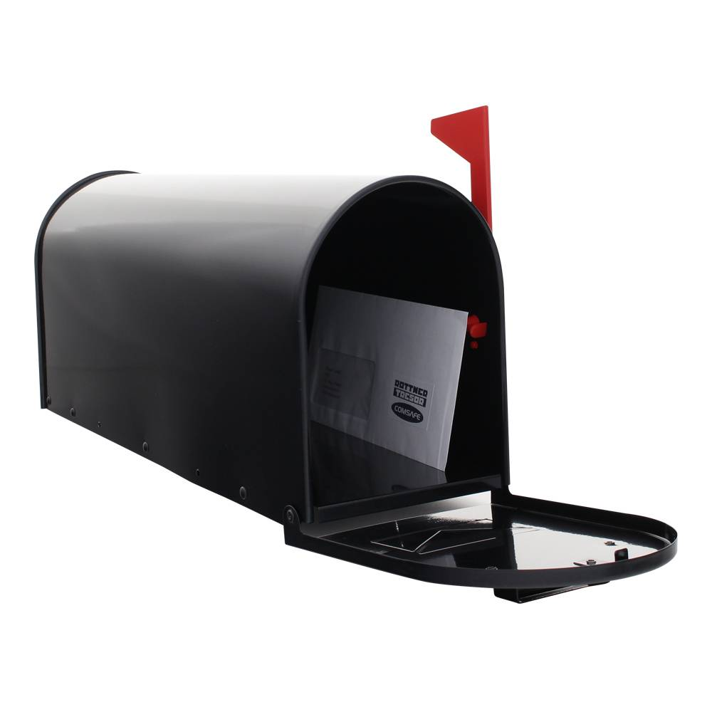 Amerikaanse brievenbus - US-MAILBOX - aluminium - Zwart