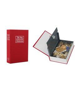 Rottner Tresor Boekkluis / kluis verborgen in een boek -Rood