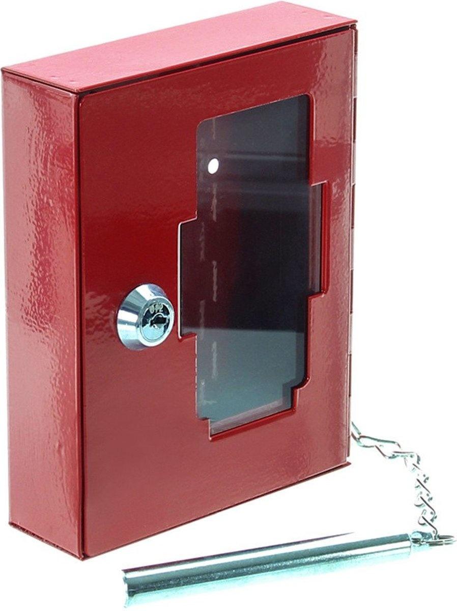 Noodsleutelkast NS1 (nooduitgang) met hamer - Rood